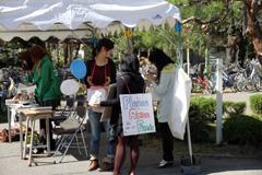 キャンパス内での募金活動(22.10.23-24)